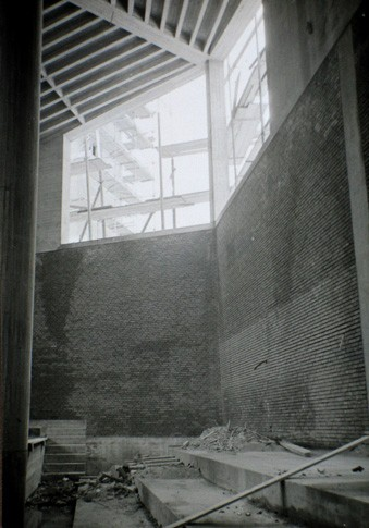 Michaelskirche Innenraum beim Bau