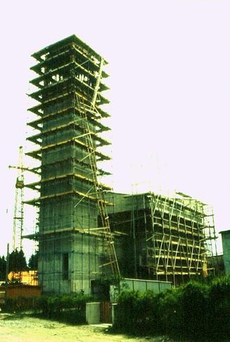 Michaelskirche im Bau